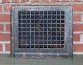 Heat Register Vintage Wall Mount Black Heating Grate Register Cover with Adjustable Flap