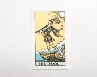 The Fool - El Loco - Le Mat - Rider-Waite Tarot Card Sew On Patch