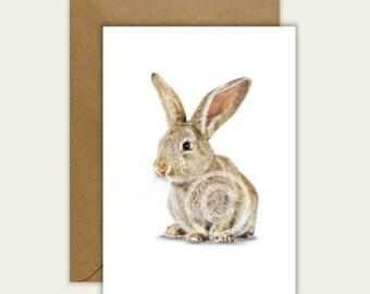 Bunny Rabbit Blank Artist Animal Card