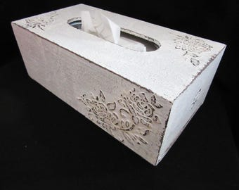 Shabby tissue box cover