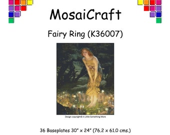 MosaiCraft Pixel Craft Mosaic Art Kit 'Fairy Ring' (Like Mini Mosaic and Paint by Numbers)