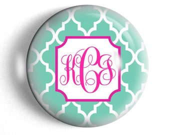 Monogram Paperweight Mothers Day gift personalized bridesmaid gift custom preppy moroccan design paperweight.