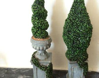 Dolls House Vintage Topiary Trees
