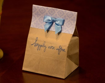 Unique Kraft Bag Coffee Wedding Favors. Choose Stamp design.  Fresh roasted coffee. Made to Order.