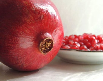 Pomegranate Photograph - Fruit Art - Red Kitchen Decor - Red Fruit - Wall Decor - Food Photograph - Nature - Fruit Photography