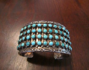 JP Ukestine, Zuni 5 Row Turquoise and Sterling