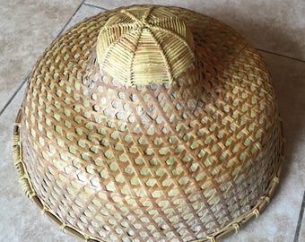 Antique Chinese Bamboo Rice Coolie Hat