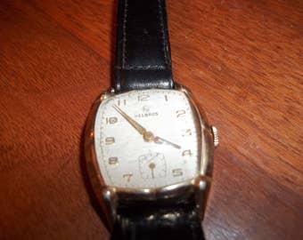 HELBROS Mens Watch - Wind up watch - Helbros Watch - Helbros