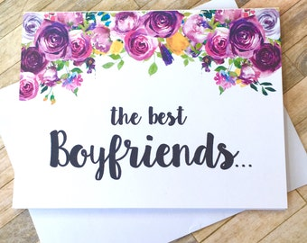 Pregnancy Announcement to Boyfriend Card - Pregnancy Reveal to Boyfriend - New Daddy - We Are Having a Baby - I'm Prego Card - VIOLETS