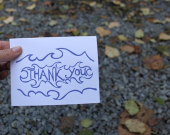 Waves Thank You Card