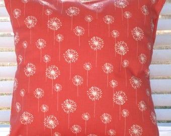 "CLEARANCE Pillow Cover, Pillow, Decorative Throw Pillow, Coral Pillow, Throw Pillow, Coral, Cushion, Beach Decor, Coastal Decor, 18"" x 18"""