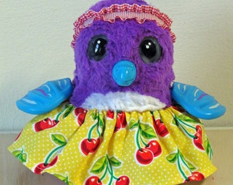 Clothes for HATCHIMALS - Cherry Dress with headband - Fits most hatcing egg toys