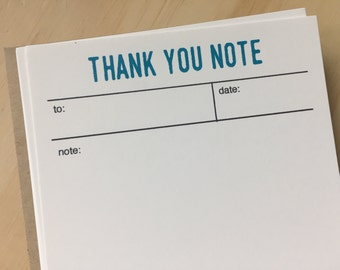 thsnk you stationery, vintage inspired flat note cards, thank you notes, set of 10, stationery set