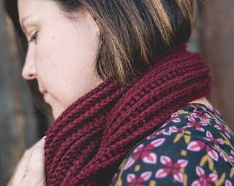 Crochet Ribbed Infinity Scarf