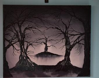 Winter Trees scene - Original Oil Painting