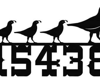 Custom Quail House  Numbers