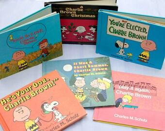 Set of Vintage Charlie Brown/ Peanuts First Printing Books/ Charles Shultz