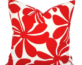 One Premier Prints Indoor/Outdoor red floral Pillow Covers, DIFFERENT SIZES AVAILABLE, cushion, decorative pillow, throw pillow