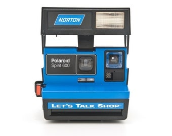 POLAROID Spirit 600 NORTON Let's Talk Shop Camera - Rare Branded Special Edition Polaroid Camera  - Film tested and working