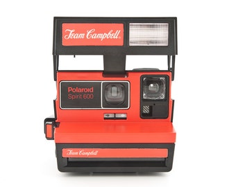 Polaroid Spirit 600 Team Campbell Soup - RARE Branded Polaroid - Instant Camera Tested - Working Polaroid 600