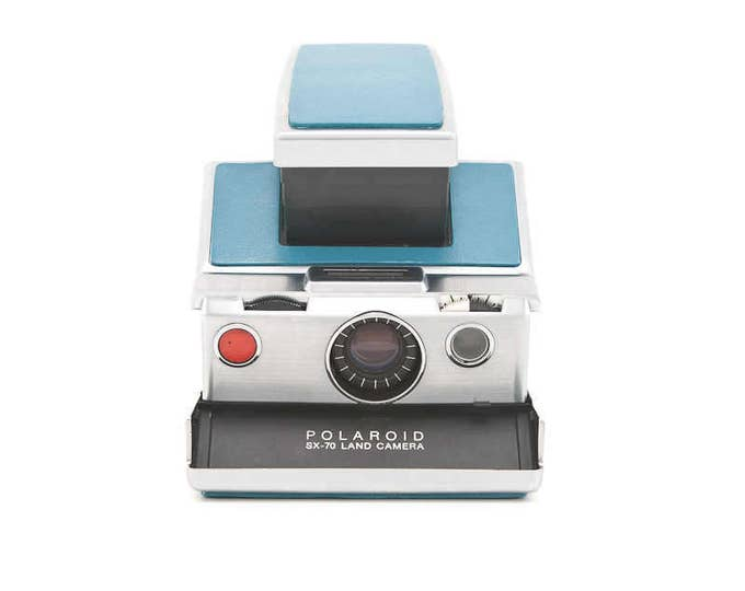 Featured listing image: Polaroid SX-70 Land Camera - Refurbished with new Blue Leather - Film Tested - Guaranteed Working - SX70 Model 1 Original