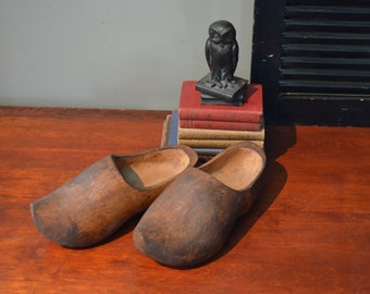 Dutch Wood Shoes  Dutch Wooden Shoe Hand Carved Shoes Rustic Farmhouse I Ship Globally