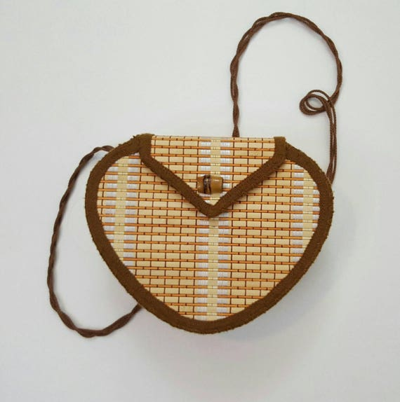 Vintage 1970s Light Weight Summer Bag - Cute Classic Vintage Over the Shoulder Purse - Neutral Earth Toned Bag - Womens Unique Little Bag