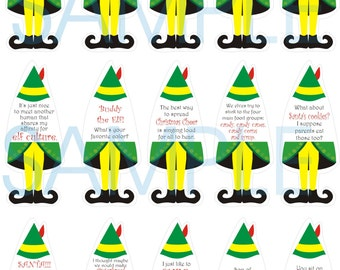 Christmas Elf Sayings Toppers or Tags