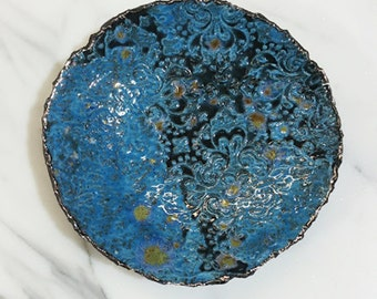 Blue Patterned Ceramic Dish