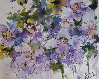 Abstracted Floral Watercolor 3