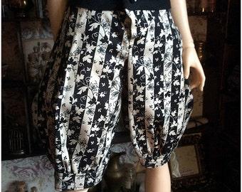 White/Black Leaf Pants (SD)