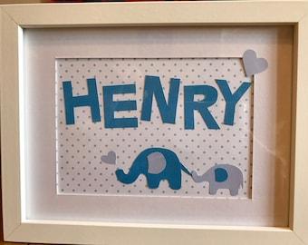 Personalised elephant frame