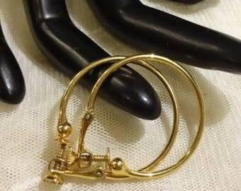 Vintage Napier Smooth Slimline Hoop Earrings
