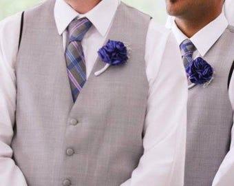 Purple boutonniere - boutonniere and corsage , groom boutonniere , prom boutonniere