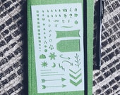 Essentials* 3.0 Bullet Journal Stencil, Filofax, Midori Traveler's Notebook, Hobonichi, Erin Condren Planner
