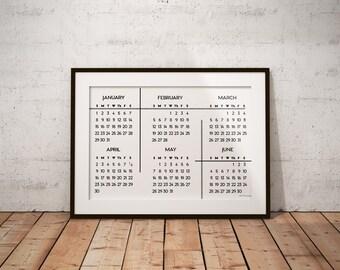 Large Print 2017 Wall Calendar
