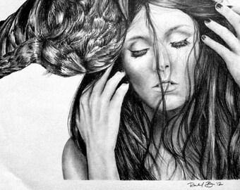 Custom Pencil Drawing - Lady Gaga