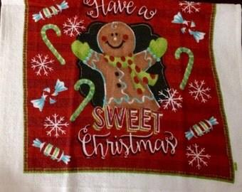 Gingerbread Man Crocheted Top Towel  (C21)