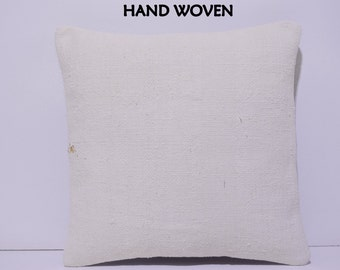white pillow cover cream pillow case plain cushion cover natural pillow cover burlap cushion cover cream kilim rug kilim pillow sham D3491