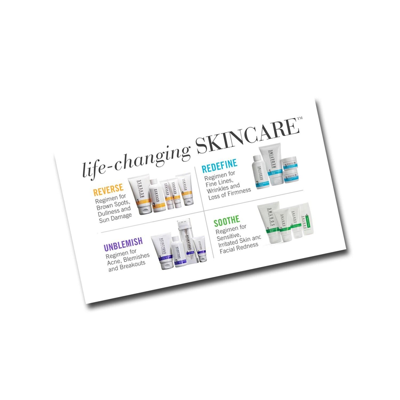 Rodan Fields Business Card Back Life Changing Skincare