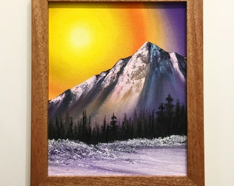 Rise Original Mountain Landscape Oil Painting