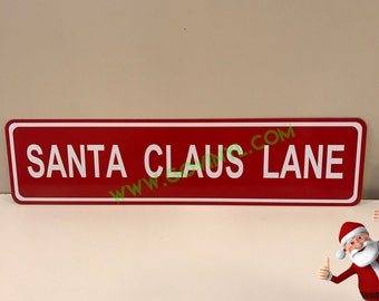 Santa Claus Lane - Street Sign
