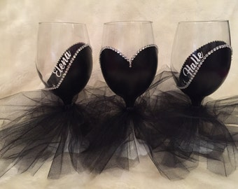 Add a Name to Your Bride/Bridesmaids and/or Groom/Groomsmen Glasses