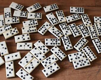 Vintage Domino Set Bone and Wood
