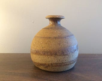 Small Studio Pottery Bud Vase By Charles Counts