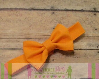ORANGE Bow Tie Pre-tied Infant Child Youth Adult Sizes