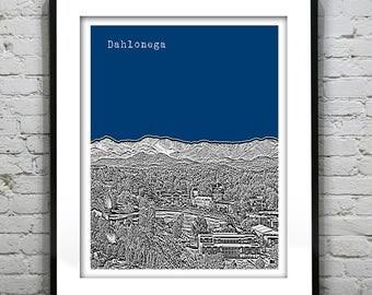 Dahlonega Georgia Skyline Poster Art Print Version 1 GA