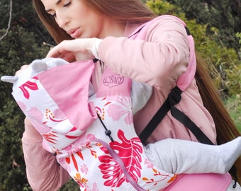 Buckle Baby Carrier / Sling / Soft structured/ by Bagy™ Lilies/ Ergo Carrier