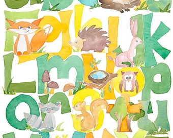 Woodland Forest ABC Alphabet
