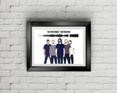 Foo Fighters The Pretender Soundwave Minmialist A4/A3 Printable Instant Download, Quirky Present, Soundwave Art, Sound Wave